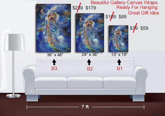 Iranian Movies Cosmic Dance Art Print On Canvas Wrap Or Poster