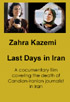 Zahra Kazemi, Last days in Iran (DVD)