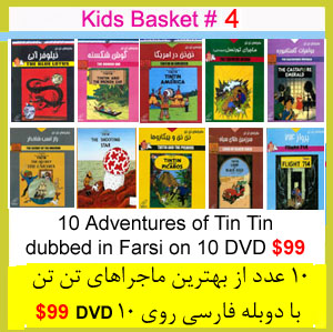 Kids Gift Basket # 4 (10 Tin Tin DVDs)