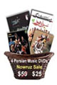 4 DVDs by top Iranian music groups (set # 1)