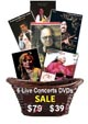 6 Concerts by 6 famous artists on 6 DVDs (Set 2)