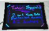 LED Menu Light Board 12 x 16 Message Sign Dry Erase Fluorescent Neon Writin...