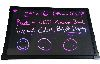 LED Menu Light Board 24 x 16 Message Sign Dry Erase Fluorescent Neon Writin...