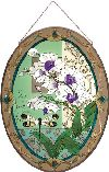 Joan Baker Designs APM814 Orchids and Dragonfly Glass Art Panel, 17-1/4 by 23...