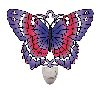 Violet & Magenta Butterfly Painted Glass Nightlight by Joan Baker