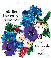 Joan Baker Designs TP1007 Tile Plaque, Indigo Hydrangea/All The Flowers of To...
