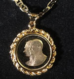 Shah and Reza Shah Medallion, 14K Gold Covered