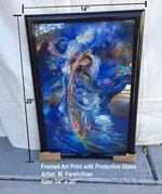 "14"" x 20"" Art Print, Framed - Miniature Painting"
