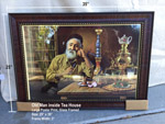 "25"" x 35"" Art Print with Frame - Old Man inside Tea House"