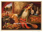 Persian Paintings on Canvas in 3 Sizes (50% off)