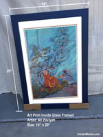"14"" x 20"" Art Print Iranian Miniature Painting"